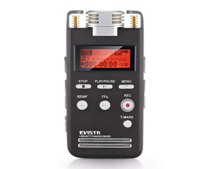 EVISTR Voice Recorder 8GB PCM 1536K