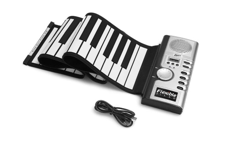 Lujex Foldable 61 Keys Flexible Soft Electric Digital Roll Up Keyboard Piano