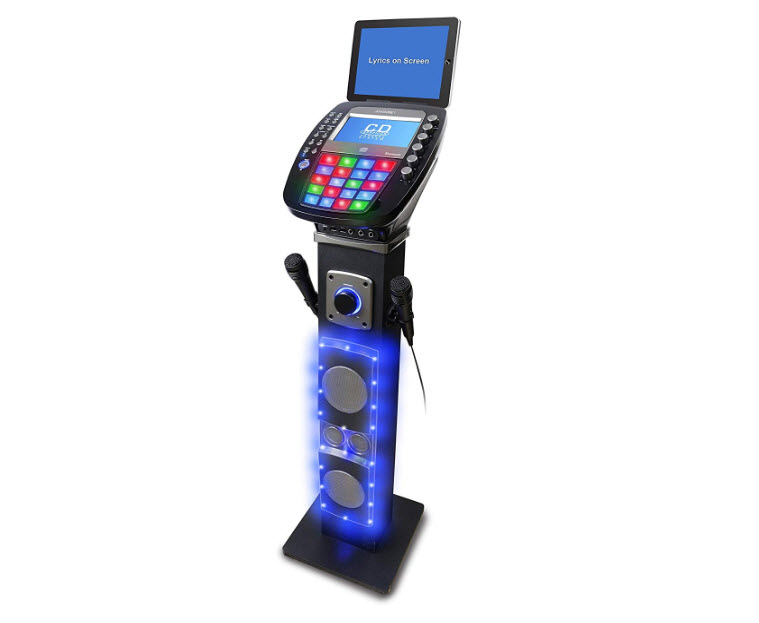 iKaraoke KS878-BT Bluetooth Pedestal CD and G Karaoke System
