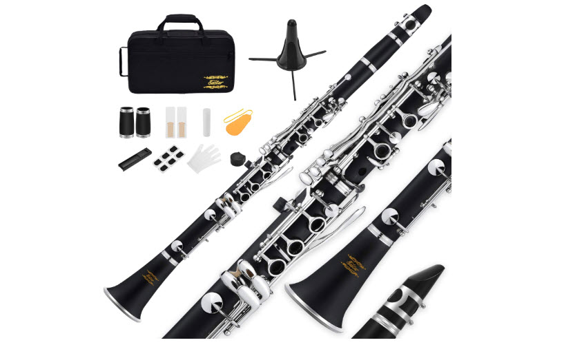 Eastar B Flat Clarinet Black Ebonite Clarinet with Mouthpiece