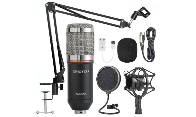 ZINGYOU Condenser Microphone Bundle for Studio Recording
