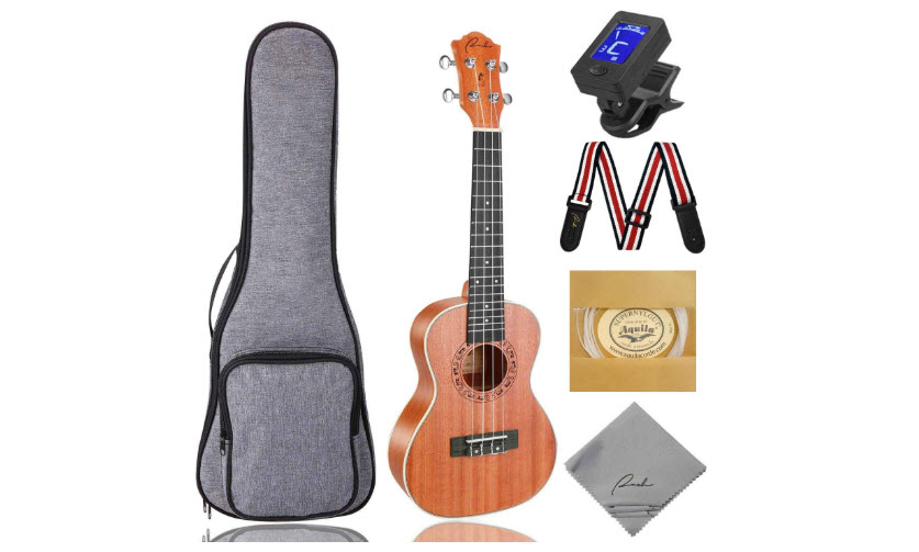 Concert Ukulele Ranch 23 Inch Professional Wooden Ukulele Instrument Kit