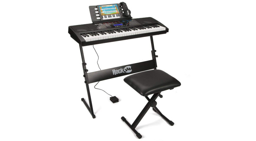 RockJam RJ761 61 Key Electronic Interactive Teaching Piano Keyboard