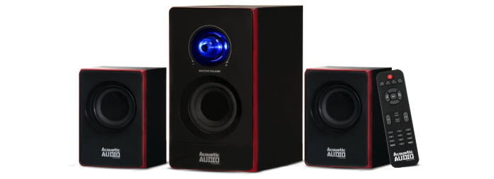 Goldwood Acoustic Audio 2.1 Bluetooth Speaker System