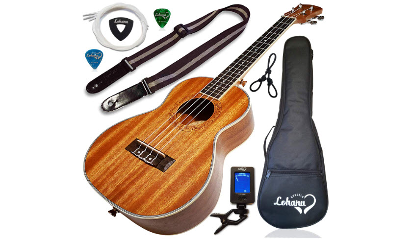 Ukulele Tenor Size Bundle From Lohanu