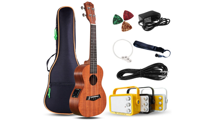 Electric Concert Ukulele with Amp 23 Inches