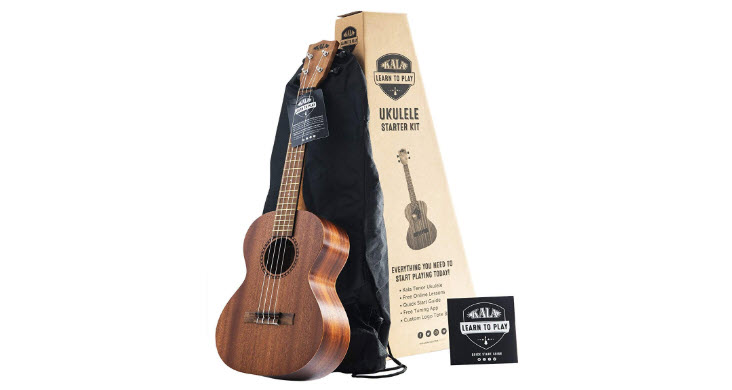 Official Kala Learn to Play Ukulele Tenor Starter Kit - Satin Mahogany