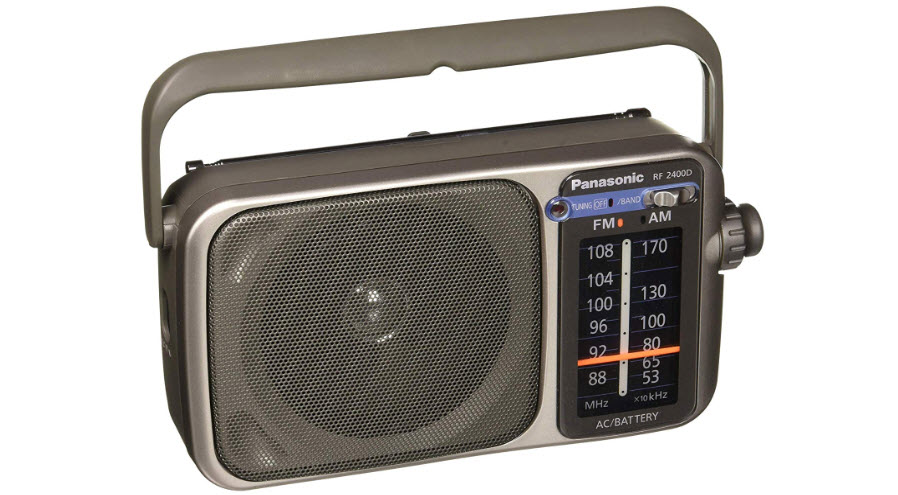 Panasonic RF-2400D AM/FM Radio Silver