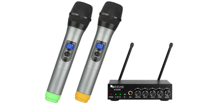 Fifine UHF Dual-Channel Wireless Handheld Microphone