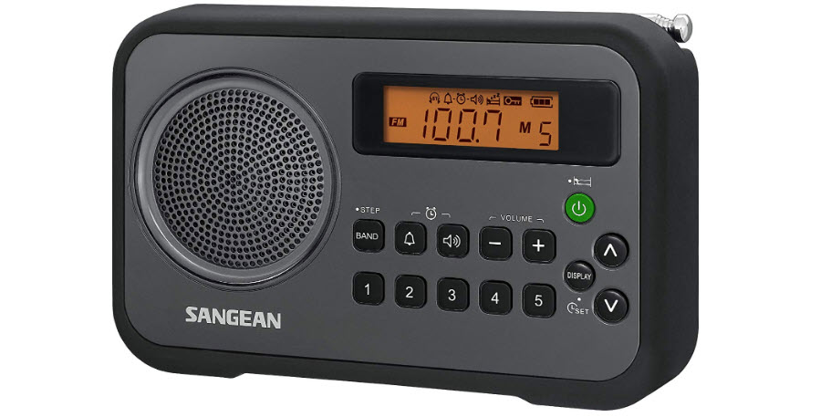Sangean PR-D18BK AM/FM Portable Digital Radio with Protective Bumper