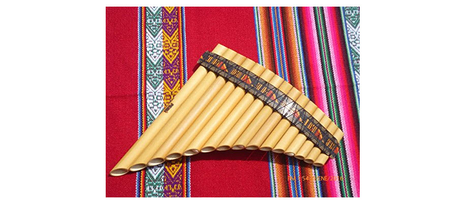 Pan Flute 15 Pipes Tunable Natural Bamboo from Peru