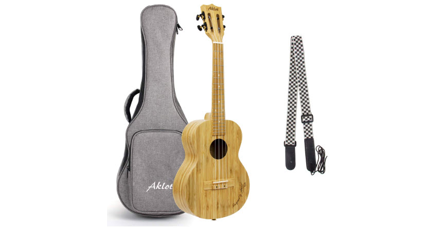 AKLOT Tenor Ukulele All Bamboo 26 Inch