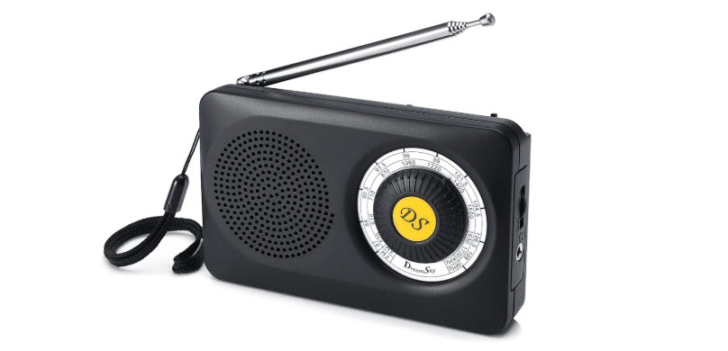 DreamSky Portable AM FM Radio with Speaker