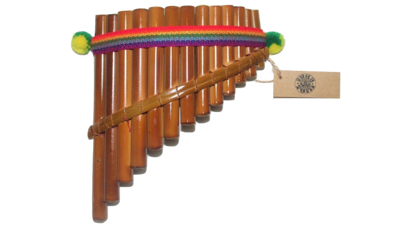 Beautiful InkaTumi Decorative 13 Pipes Curved Pan Flute