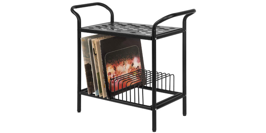 MyGift 2-Tier Metal Table Stand