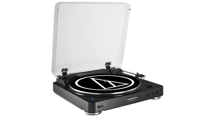 Audio Technica AT-LP60BK-BT Bluetooth Wireless Belt-Drive Stereo Turntable
