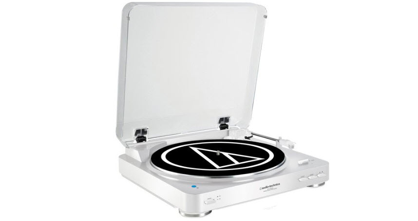 Audio Technica AT-LP60WH-BT Fully Automatic Bluetooth Stereo Turntable