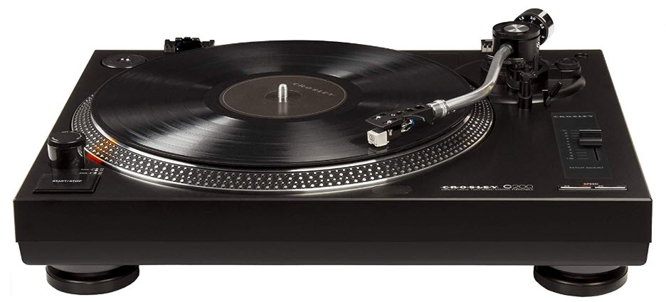 Crosley C200 Direct-Drive Turntable with S-Shaped Tone Arm