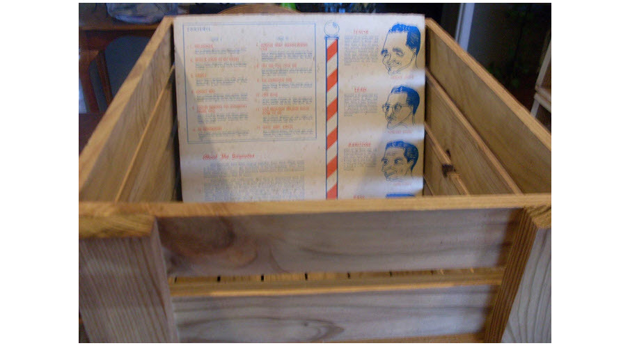 LP Record Wood Crate