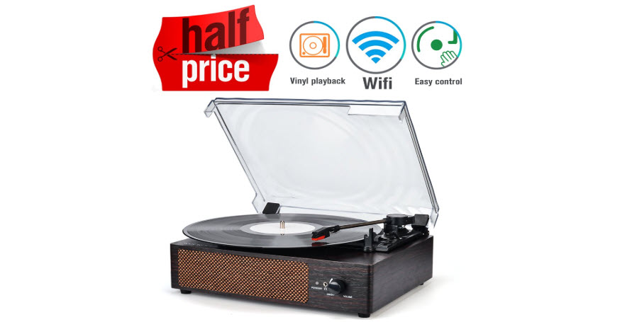WOCKODER Record Player Portable Turntable