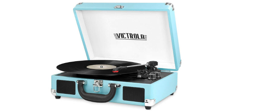 VSC-550BT-TQ Victrola Vintage 3-Speed Bluetooth Suitcase Turntable with Speakers