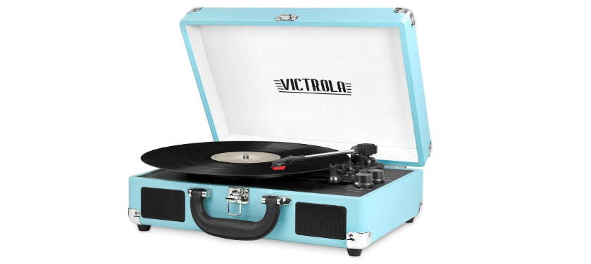 VSC-550BT-TQ Victrola Vintage 3-Speed Bluetooth Suitcase Turntable