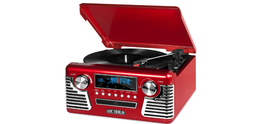 Victrola 50's Retro Bluetooth Turntable