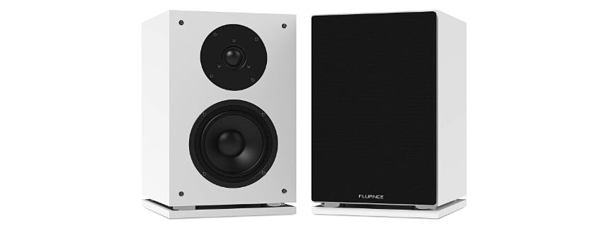 Fluance SX6WH High Definition Two-Way Bookshelf Loudspeakers